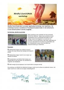 Mindful (lunch) Walk workshop